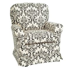 Patterned glider? Little Castle... Good price at Target on THIS chair, but also check USA Baby because may be able to custom design one in this brand!