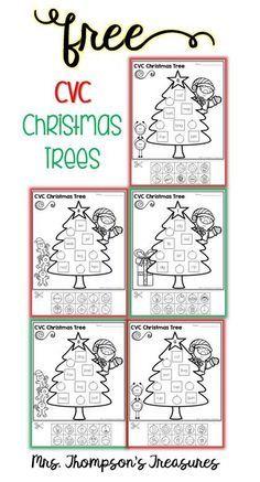 Free CVC Christmas Trees - Mrs. Thompson's Treasures