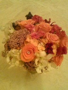 Coral and Pinks Bridal Bouquet