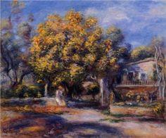 Houses at Cagnes - Pierre-Auguste Renoir