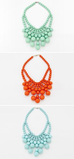 Great colors and lovely pattern... Could you make these with wooden beads spray-painted with gloss paint?