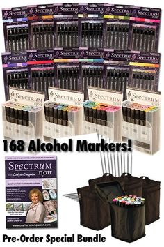 Spectrum Noir Blendable Alcohol Based Pens Whole Range of 168 Ink Pens Only £185