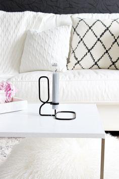 Koti Home Hay Candle Holder Livingroon Decor Interior Olohuone Scandinavian Ikat Kerela Mustavalkoinen Sisustus Black and White
