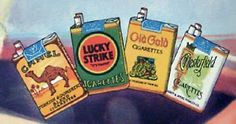 Old Cigarette Sign ~ Camel ~ Lucky Strike Green ~ Old Gold ~ Chesterfield ~ Bradshaw Pin Up Girl Elegant Lady with Flower ~ Vintage Variety and Dime Store Stock Merchandise General Store Items Cigarette Brands, Cigarette Box, Biloxi Blues, Chesterfield Cigarettes, Old Time Radio, Today Tips, Old Signs, The Good Old Days, Vintage Flowers