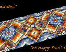 "Bead loom bracelet pattern , cuff jewelry design ,"" Complicated "" - INSTANT DOWNLOAD PDF , bracelet, cuff, jewelry,handbag"
