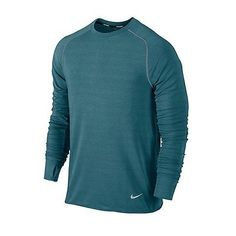 online retailer fcc4f 05945 NIKE RUNNING Mens SPRINT DRI-FIT REFLECTIVE FEATHER FLEECE CREW SHIRT NWT S  90 Mens