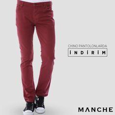 Şıklık konusunda fark yaratan Chino pantolonlarda indirim var! 👉 http://www.manche.com.tr/koleksiyon/yaz-koleksiyonu/manche-slim-pantolon-bordo