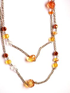 golden honey long or layered necklace