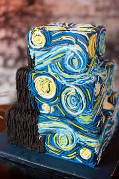 Doctor Who inspired wedding cakes Van Gogh's Starry Night Cake