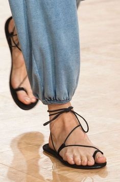 barely there lace up sandals