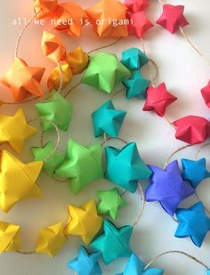 Beautiful star origami for a nursery