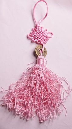 """10"""" LUOS Feng Shui Coin Pink Chinese Knot for weath and love - TL011 for only $5.96 You save: $9.04 (60%)"""