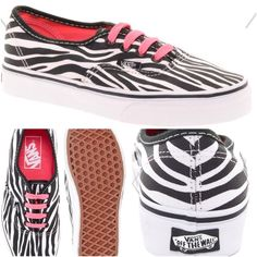 Vans Authentic Zebra Lace Up Sneakers These Authentic sneakers by Vans have been made with a durable canvas upper and a rubber sole. The details include: a lace-up closure with metal eyelets, a logo tab to the side, zebra print, contrast stitching, rounded toe and chunky sole with contrast tipping, a textured tread and branding to the heel. Vans Shoes Sneakers