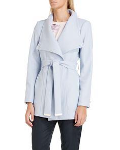 ff3991ebbcc Ted baker Paria Short Wrap Coat in Blue