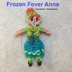 This is Rainbow Loom Anna in her newest dress from the short film Frozen Fever... This short film will show in Theaters In March before Disney's Live action Cinderella movie ( Tutorial By: BookLooms on YouTube )
