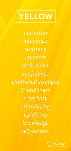 Yellow Color Psychology http://www.tazekaaromatherapy.com #MellowYellow