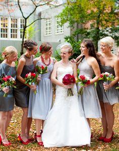 WeddingChannel Galleries: Gray Bridesmaid Dresses