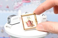 Miniature tray in 1:12 scale,
