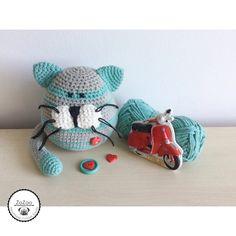 Handmade crochet amigurumi cat