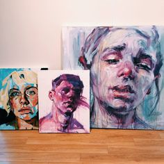 We are beginning to install the show today! Beautiful paintings by artists Elly Smallwood and Stella Cade!
