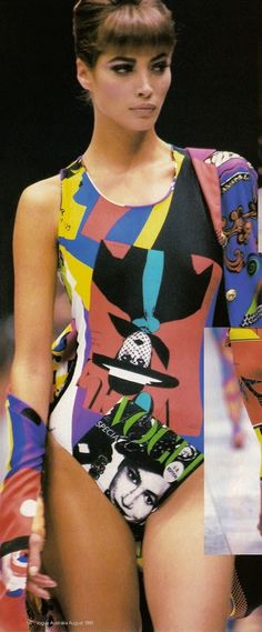 Christy Turlington for Versace, early '90s #VintageVersace