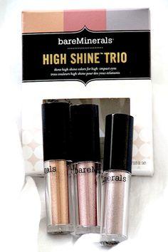 maquillage avec high shine trio bareminerals test swatch avis