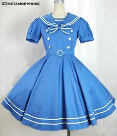 Sailor Circular Dress (Solid Color)