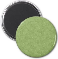 Green curved shape pattern 2 inch round magnet $3.85 *** curved shape - green pattern - green - curved - shapes - rectangle - concentric - pastel - seamless - repeating - button magnet