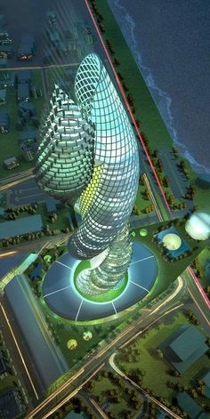 Cobra Towers in Kuwait. There certainly is some interesting skyscraper architecture going on in the Middle East. Unusual Buildings, Interesting Buildings, Amazing Buildings, Architecture Unique, Futuristic Architecture, Building Architecture, Futuristic Design, Zaha Hadid, Wonders Of The World