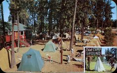 ID, Coeur D'Alene Big Chief Campgrounds Postcard - bidStart (item 20780932 in Postcards. Coeur D'alene, Idaho, The Great Outdoors, Outdoor Gear, Tent, Dolores Park, Camping, Post Card, Explore