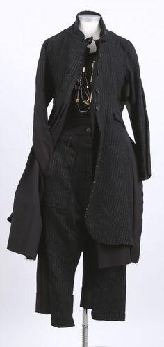 rundholz - Mantel mit Mantel black pinstripe - Winter 2016