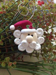 How to Make a Clay Santa Ornament