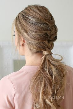 French Braid Ponytail | MISSY SUE