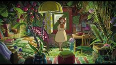 Screencap Gallery for The Secret World of Arrietty Bluray, Studio Ghibli). Arrietty and the rest of the Clock family live in peaceful anonymity as they make their own home from items that they borrow from the house's Secret World Of Arrietty, The Secret World, Secret Life, Totoro, Studio Ghibli Films, Studio Ghibli Background, Girls Anime, Animation, Hayao Miyazaki