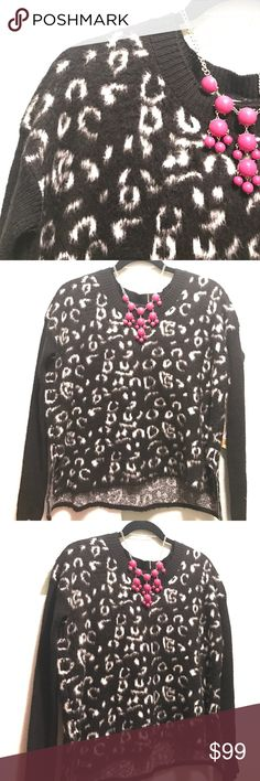 Black and White Sweater This sweater is 100 % Authentic Rachel Roy. Black and white boat necked. Brand new with tag. Still perfect for the changing seasons. Rachel Roy Sweaters