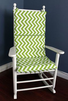 Rocking Chair Cushion   Chevron (multiple Colors) Filled With Three  Standard Pillows