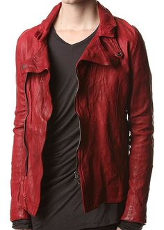 """JULIUS, AW10 RIDERS JACKET: doesn't look very """"deep bordeaux"""" to me, but it does look like some motherfuckin' #julius #leather #outerwear @JoRoan $2427"""