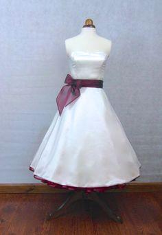 The Mansfield Dress, tea length wedding dress by Ryley & Flynn Vintage