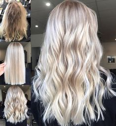 20 Trendy Hair Highlights : Balayage application & finished Tips; Trendy hairstyles and colors Women hair colors; Hair And Harlow, Blonde Hair Looks, Cream Blonde Hair, Blonde Long Hair, Cool Toned Blonde Hair, Blonde Hair Care, Platinum Blonde Hair, Balayage Hair, Highlights On Blonde Hair