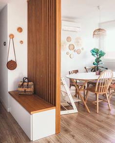 Basket Wall Hanging Set of 9 Home Room Design, Home Interior Design, Living Room Designs, Living Room Decor, Living Room Kitchen Divider, Living Walls, Living Room Partition Design, Room Partition Designs, Partition Walls