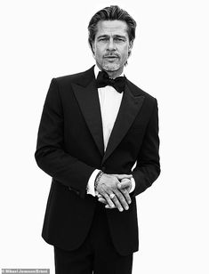 Leading man vibes: Brad Pitt didn't let any of his stresses show in the new Autumn/Winter ... Brad Pitt, The Fashionisto, Gq Magazine, Magazine Covers, Brand Ambassador, Well Dressed Men, Advertising Campaign, Stylish Men, Male Models