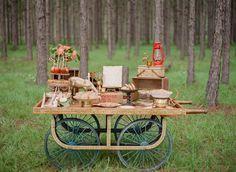 vintage peddler's cart  for the rustic dessert bar