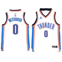 Russell Westbrook Oklahoma City Thunder Youth Swingman Basketball Jersey - White - $59.99