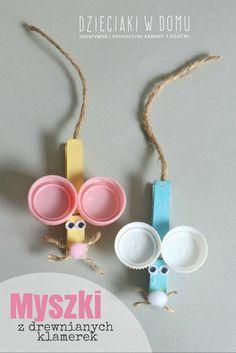 myszki drewnianych klamerek - praca dla dzieci