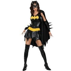 Batgirl  Yellow felt would be awesome for the arm spikes & every other area elseits  needed. Like tge utility belt, bat symbol leg spikes, ect.  http://reagu.hubpages.com/hub/Sexy-Superhero-Costumes-for-Ladies