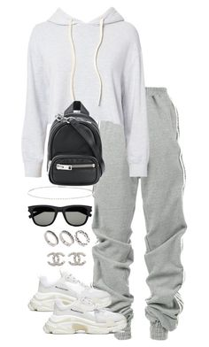 """""""Untitled #4933"""" by theeuropeancloset on Polyvore featuring Y/Project, Monrow, Alexander Wang, Balenciaga, Suzanne Kalan, Yves Saint Laurent, ASOS and Chanel"""