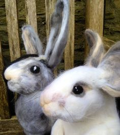 Needle felted rabbits