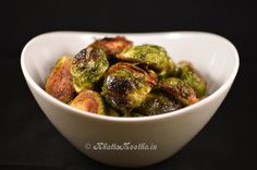 Oven Roasted Brussels Sprouts-A simple preparation for Brussels sprouts with delicious results. Loved this recipe. I've tried several brussels sprouts recipes that I did not like at all. Decided to give this one a try because my husband loves the things. I fell in love. I added a little bit of garlic powder to take this over the edge.Not only is my whole family eating Brussels Sprouts now but I've given this recipe to 3 other people.