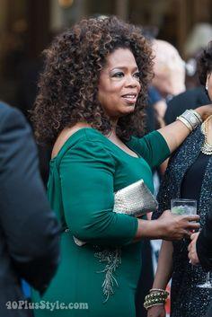 40+style at the New York Philharmonic opening ceremony! Oprah Winfrey | 40plusstyle.com