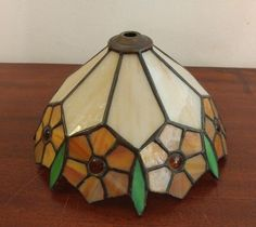 Stained Glass Flower Lamp Shade Tiffany Style Floral Shabby Shic Spring